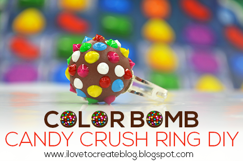 Candy Rings Jewelry Candy Crush Color Bomb Ring