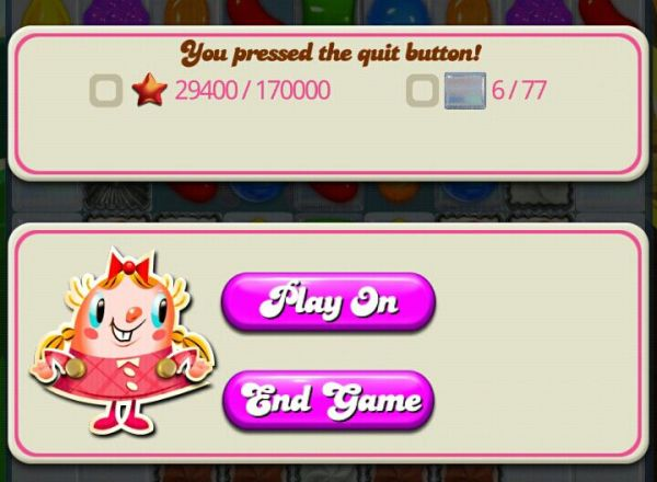 How to pause a level in Candy Crush Saga